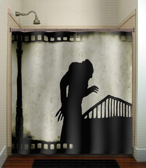 Nosferatu shower curtain.