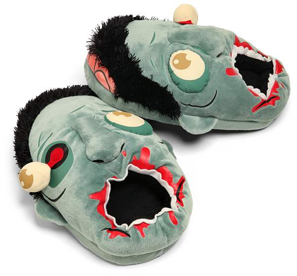 plush zombie walking dead slippers.