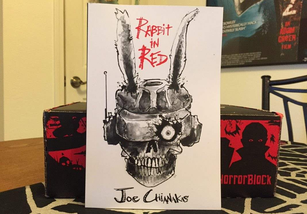 Rabbit in Red book by author Joe Chianakas in the November 2016 Horror Block