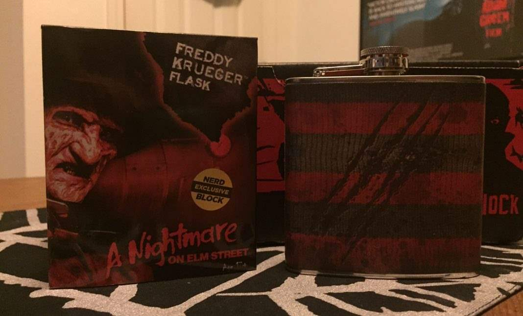 Freddy Krueger flask - Horror Block December 2016