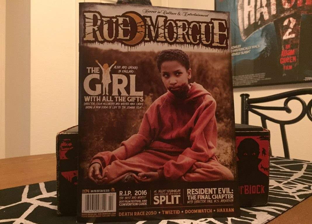 Rue Morgue issue #174, Jan/Feb 2017 - Horror Block December 2016