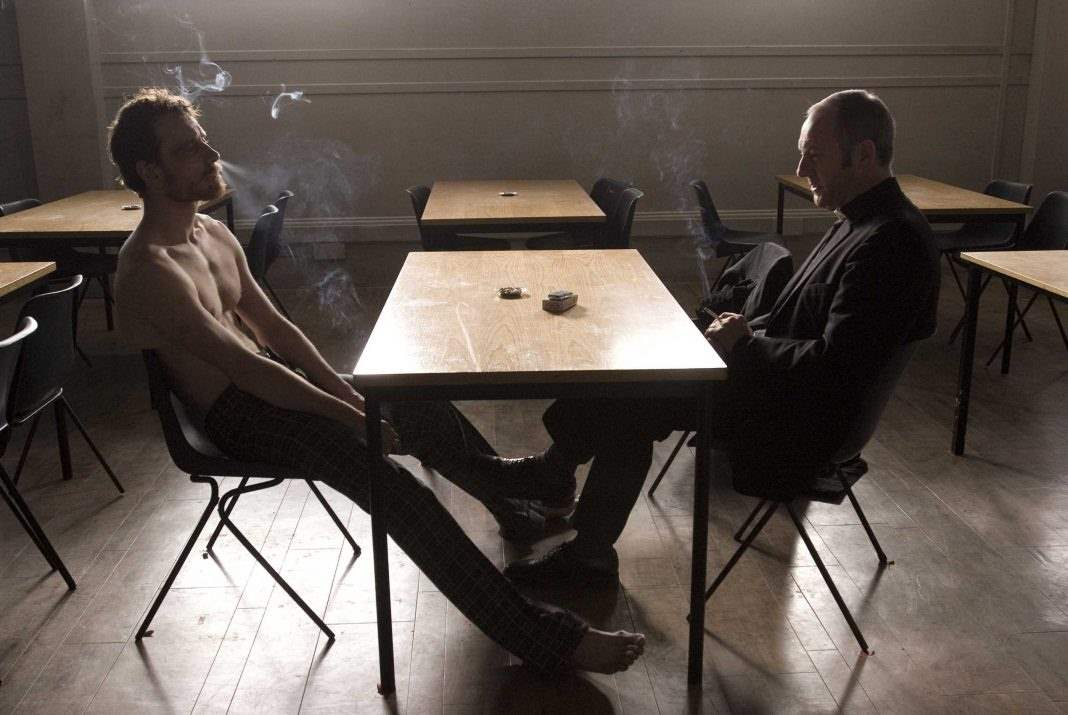 Michael Fassbender and Liam Cunningham in Hunger