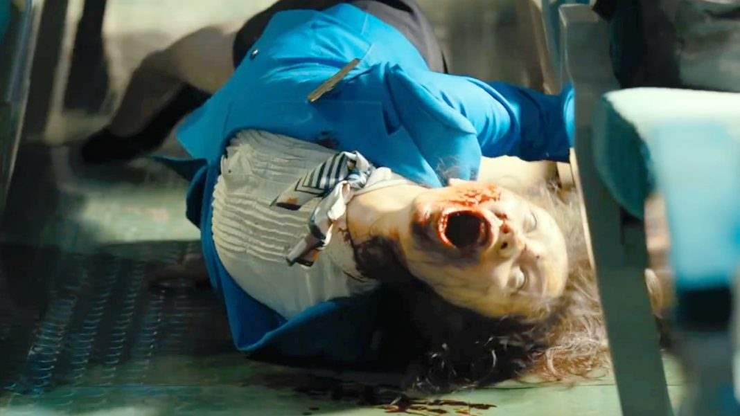 Worker turns into a zombie in Train to Busan