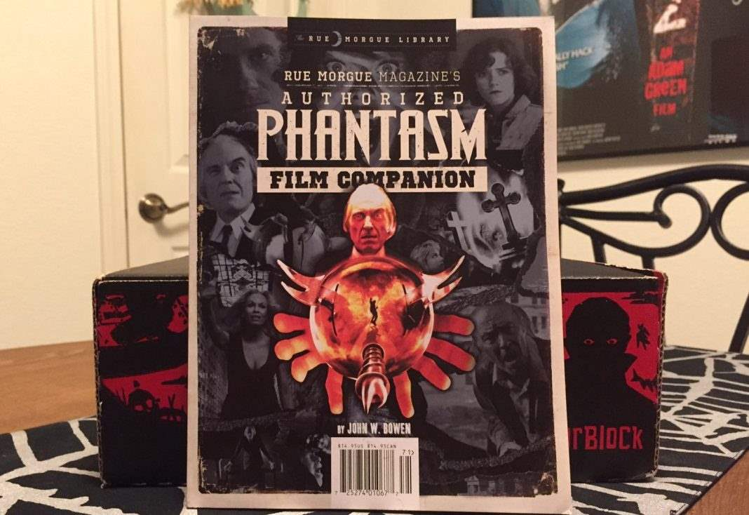 Rue Morgue Authorized Phantasm FIlm Companion book - January 2017 Horror Block