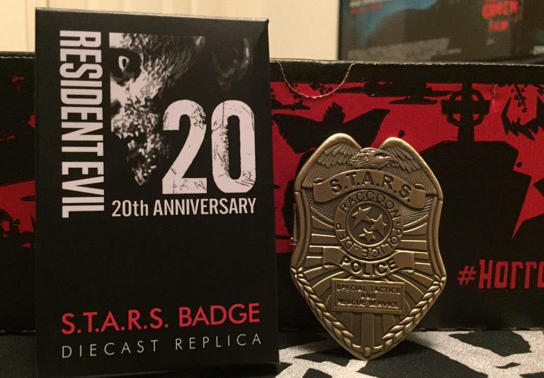 Resident Evil S.T.A.R.S. diecast replica badge - January 2017 Horror Block