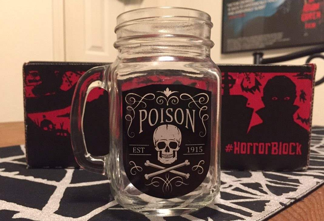"""Poison"" mason jar mug - January 2017 Horror Block"