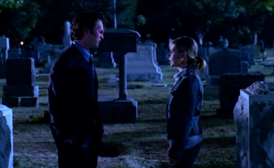 Holden and Buffy in the graveyard
