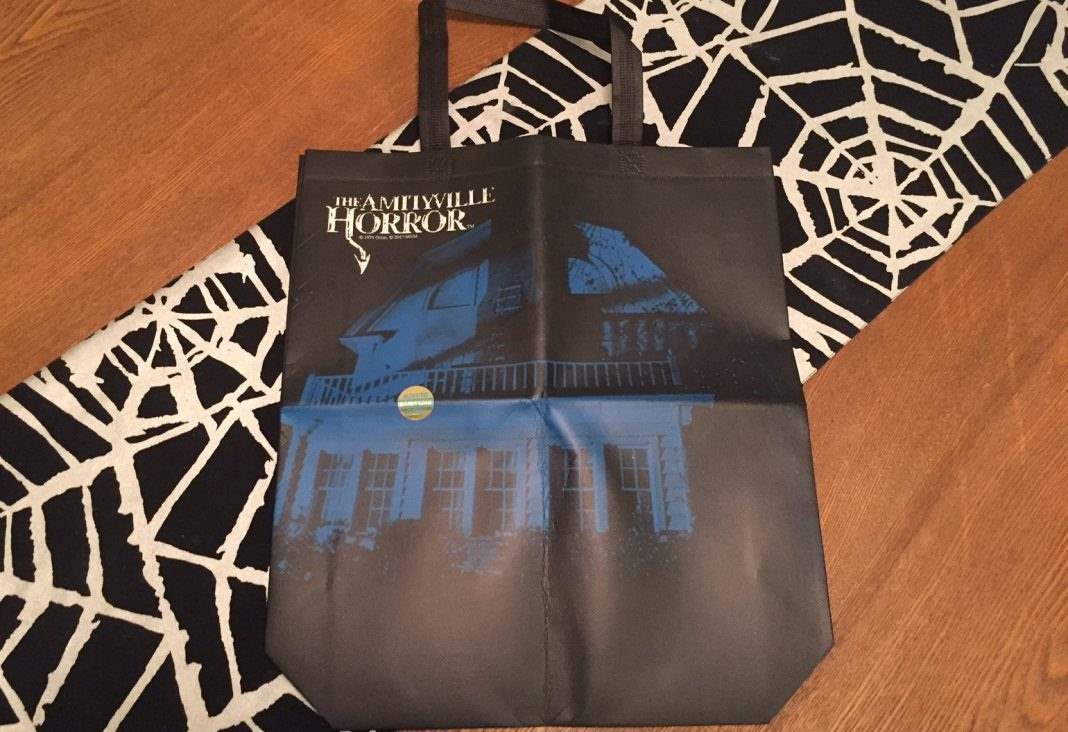 An Amityville Horror shopping bag in the February 2017 Horror Block