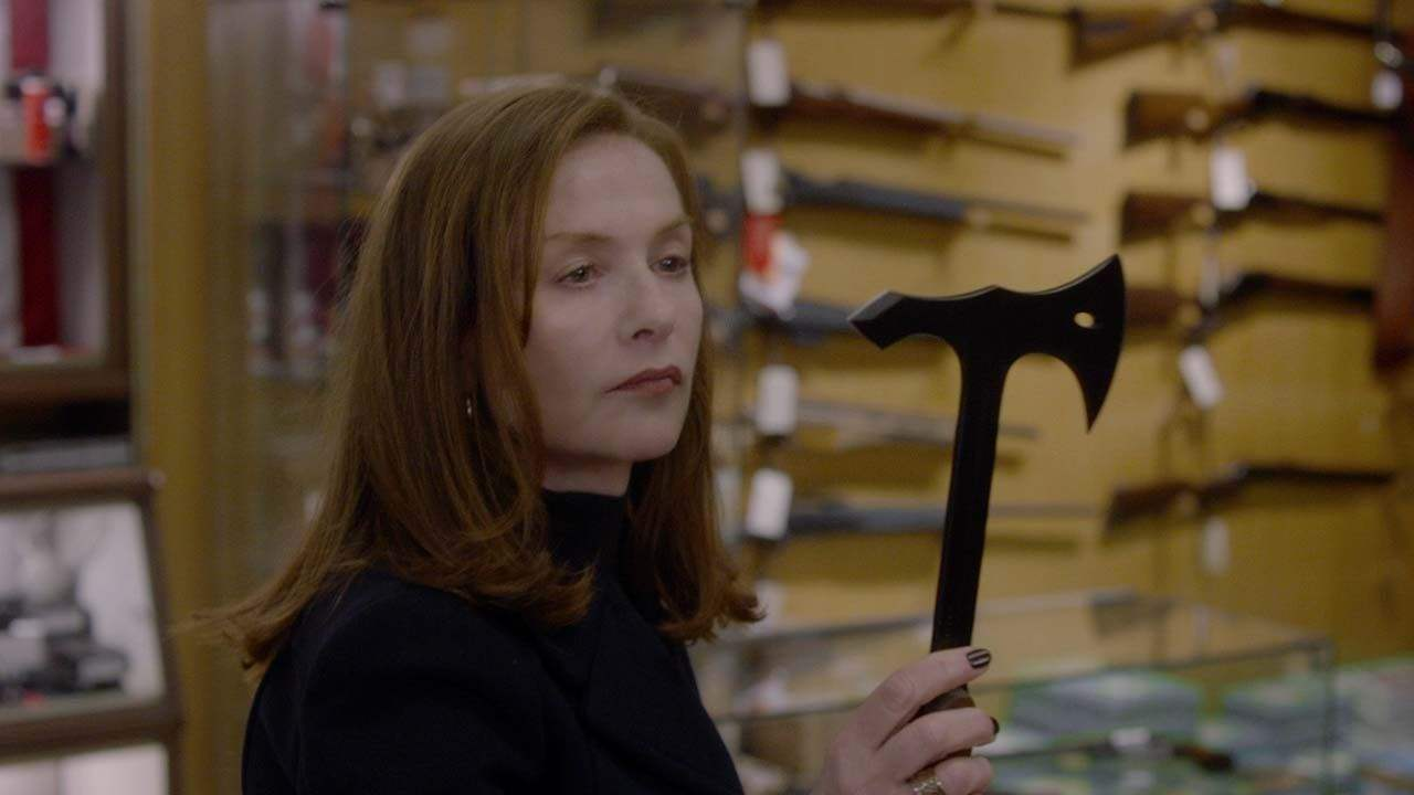 Isabelle Huppert axe in Elle