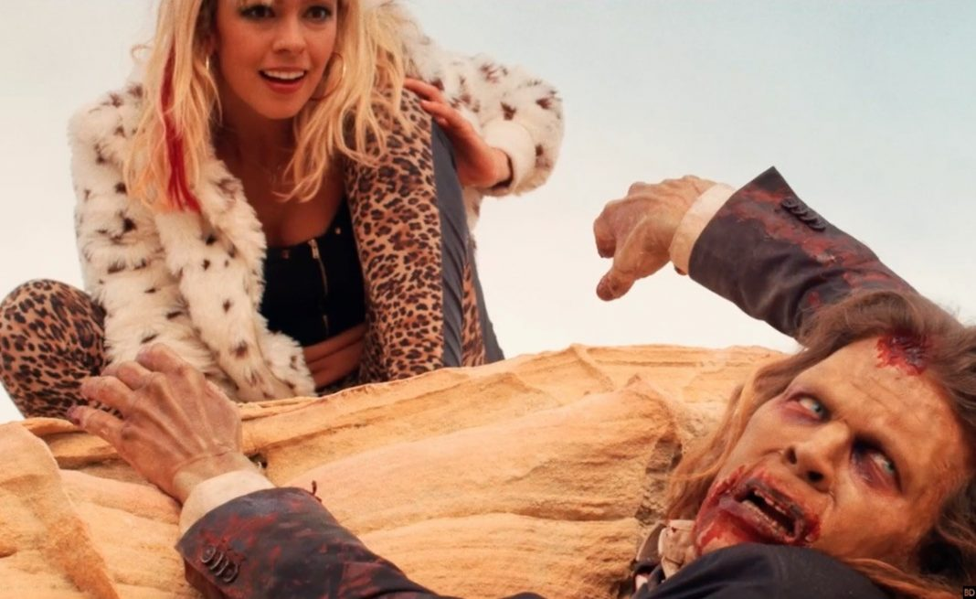 Brittany Allen and Juan Riedinger in It Stains The Sands Red