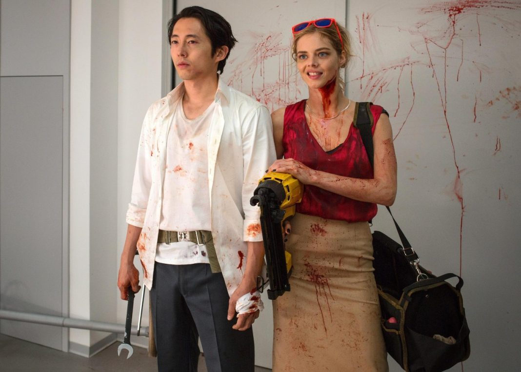 Steven Yeun Samara Weaving Mayhem
