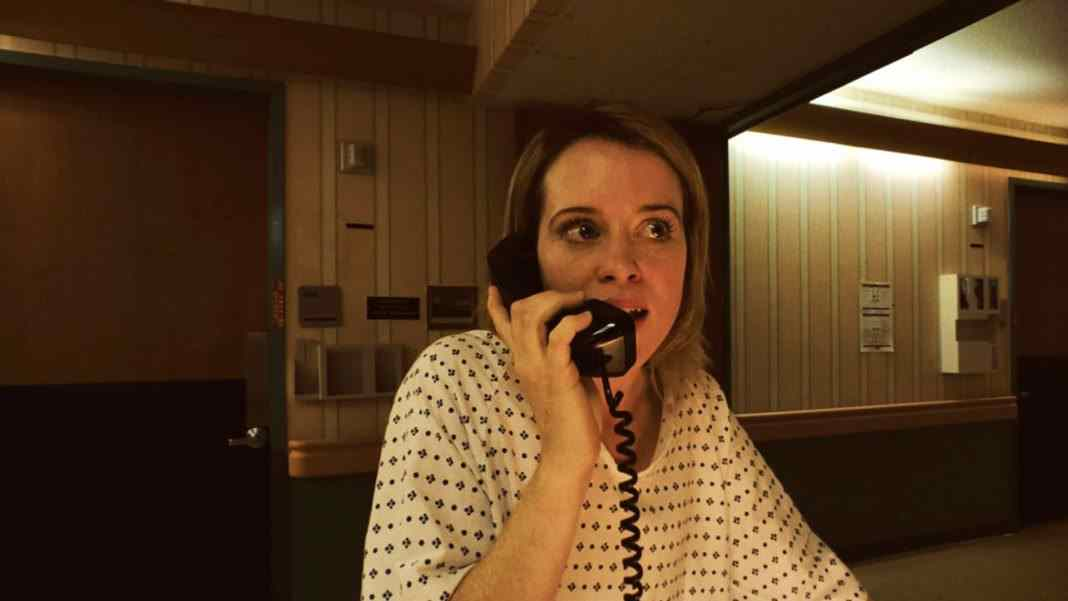 Claire Foy in Unsane phone