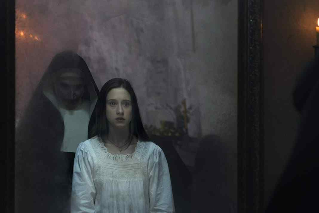 Taissa Farmiga in The Nun mirror