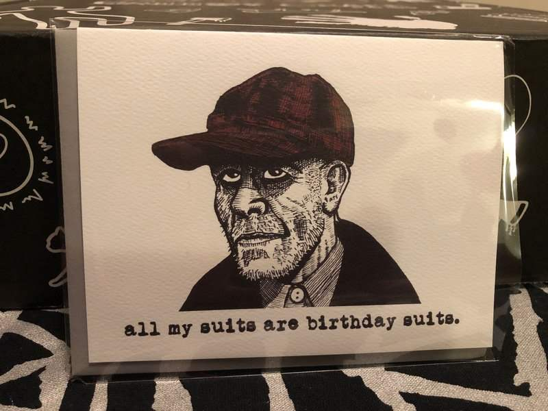 Ed Gein card in the December 2018 Creepy Crate