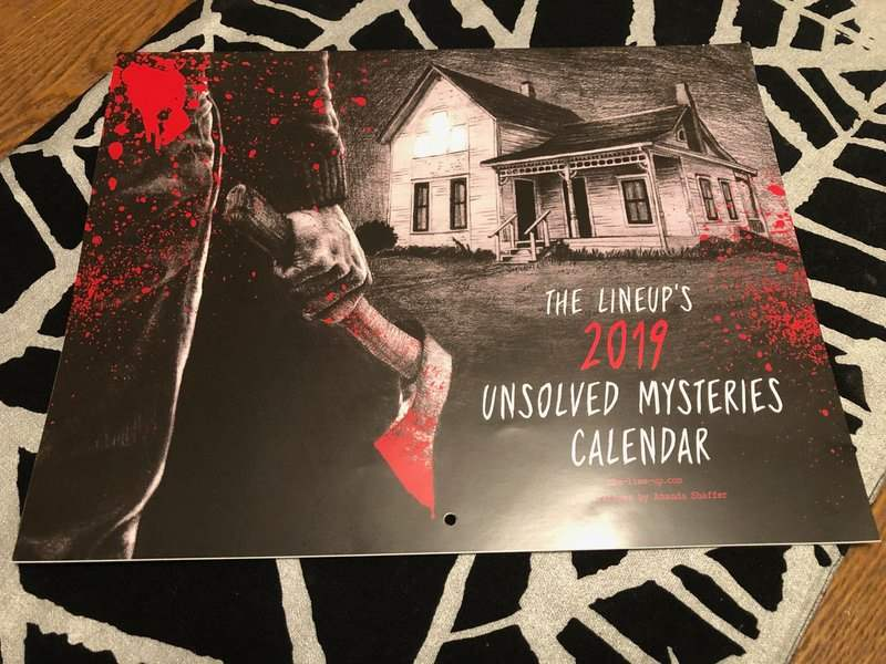 Unsolved mysteries calendar in the December 2018 Creepy Crate