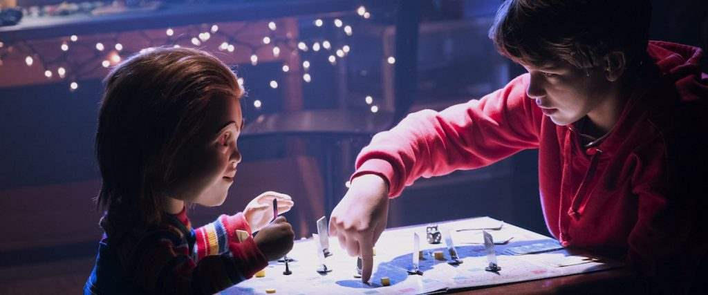 New Chucky and New Andy in Child's Play remake playing