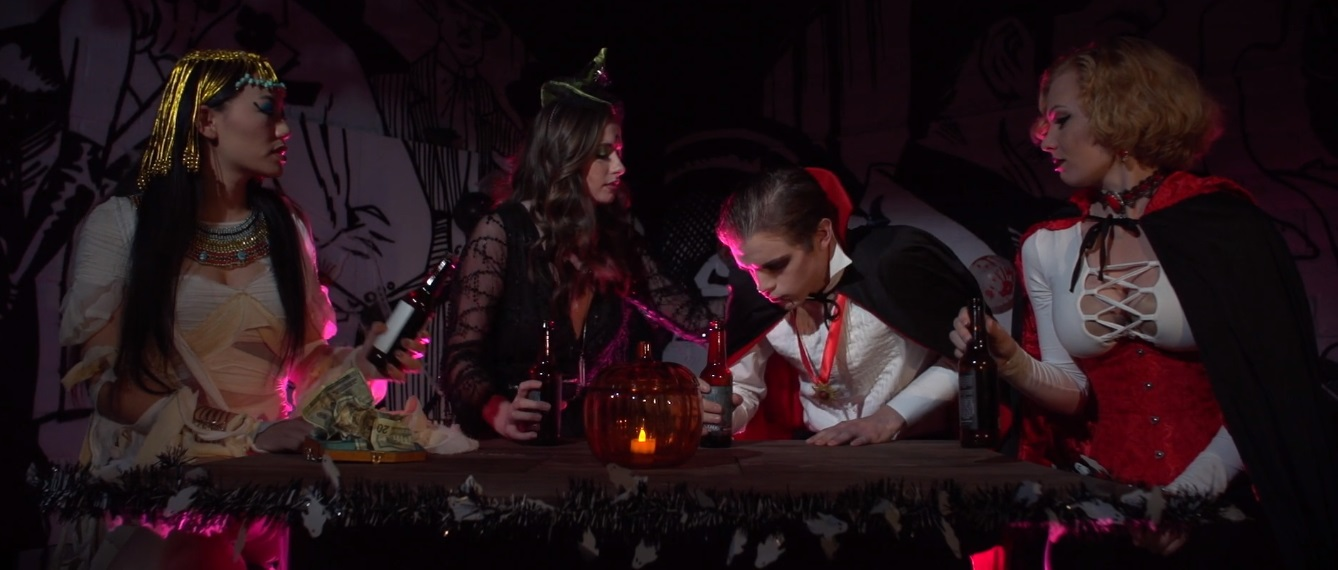 A scene from the 2019 film Weedjies! Halloweed Night