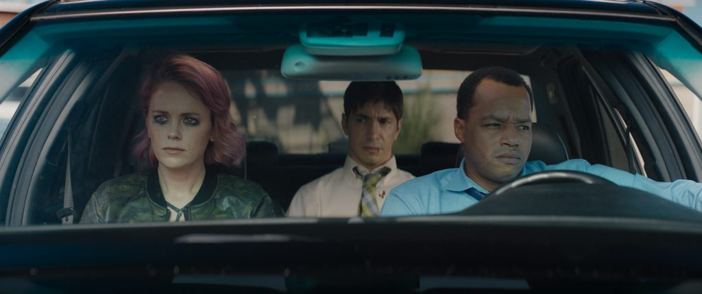 Donald Faison and Justin Long in The Wave