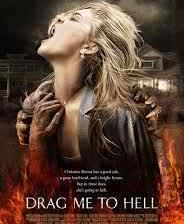 The poster for the Sam Raimi horror film Drag Me to Hell.
