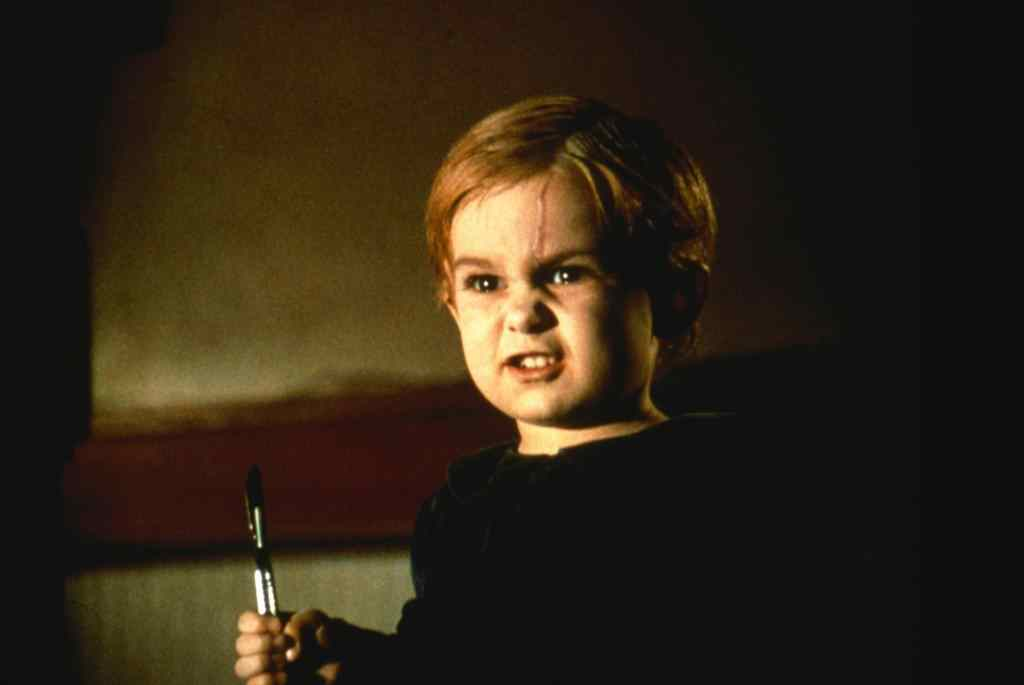gage from the stephen king novel pet sematary when after being killed is buried in a malevolent cemetery by his father, only to come back to try and kill the family