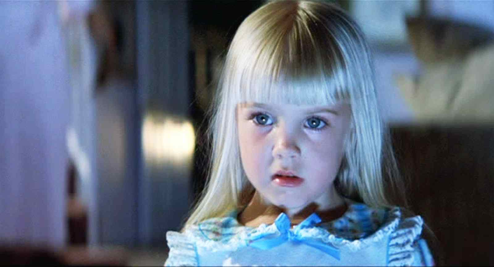 the cute blonde haired beauty played by the late Heather 0'rourke in the infamous poltergeist movie