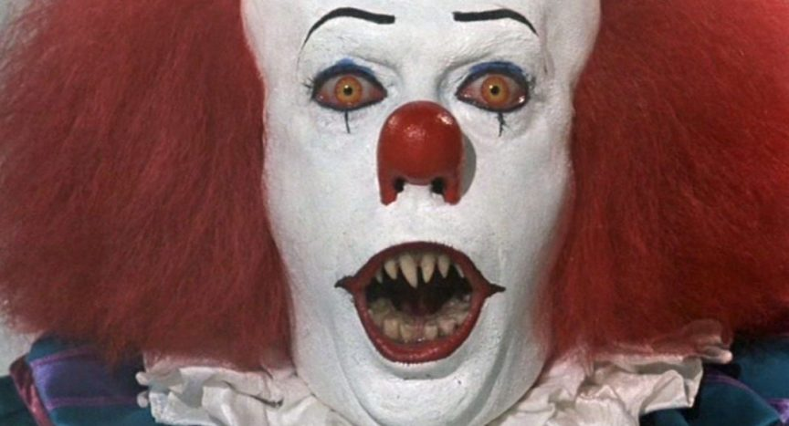 Pennywise from the novel by Stephen King showing off his pearly whites.