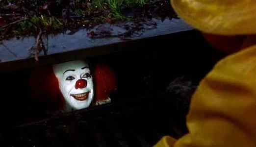 Pennywise from Stephen kinds IT novel hiding within the drains to capture children and feed on their souls.