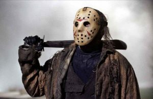 Mr voorhees and his trusty machete ready to slice up any teenagers who come to camp lake crystal.