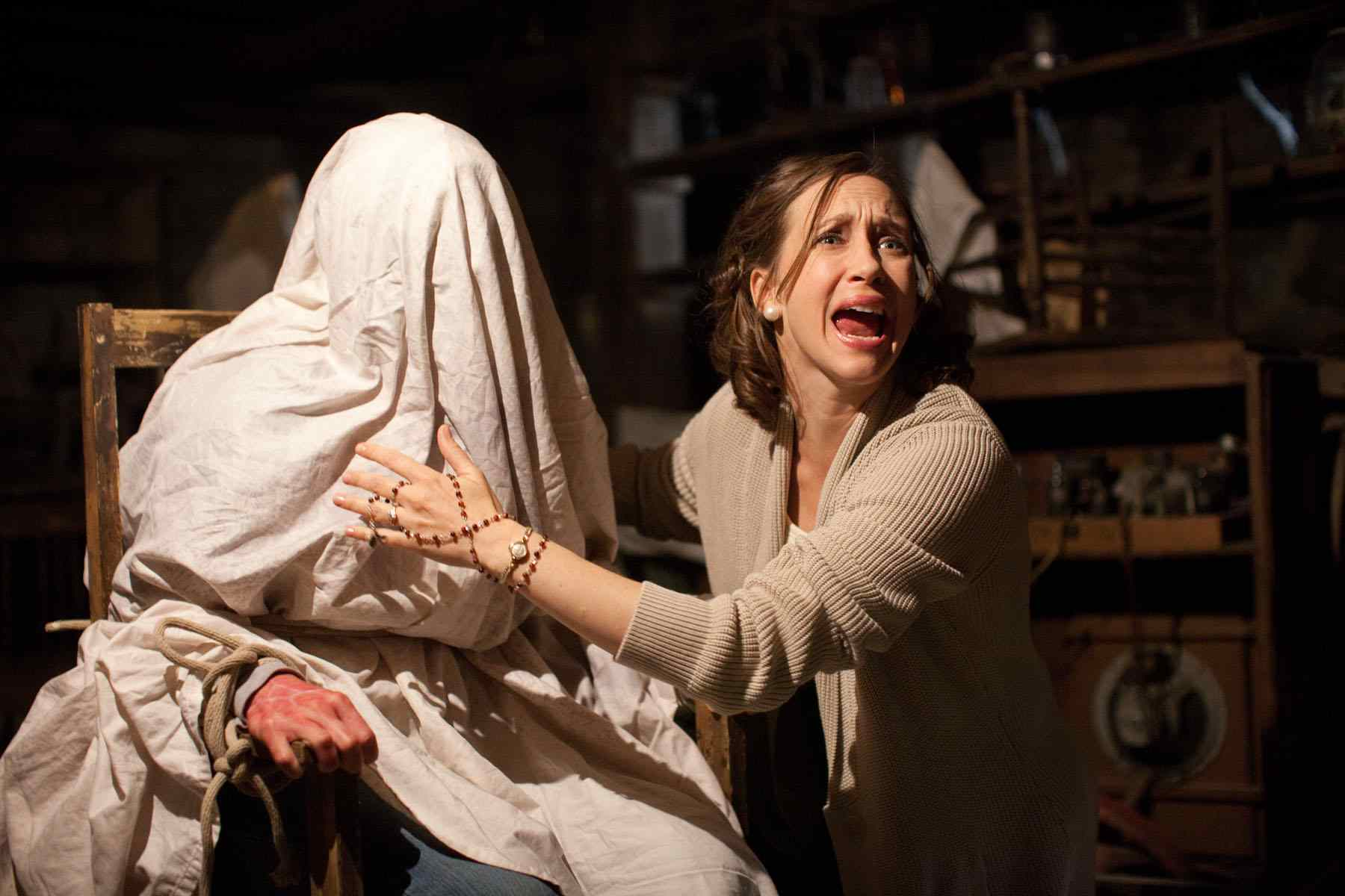 The movie The Conjuring starring Patrick Wilson and Vera Farmiga, directed by James Wan.