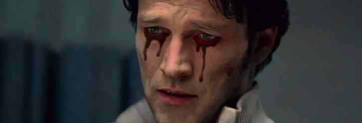 bill compton played by stephen moyer from the long standing hit vampire series true blood crying tears of blood.