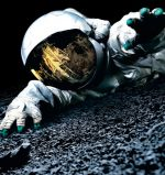 The movie poster for the sci-fi space found footage movie, Apollo 18 directed by Gonzalez Lopez-Gallego and written by Brian Miller.