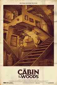Poster for Drew Goddard's The Cabin in the Woods. Things you probably didn't know about Cabin in the Woods.