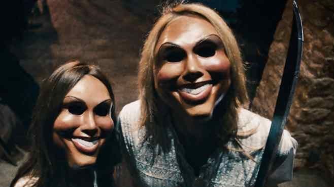 The manic gang in the movie the purge starring ethan hawke.