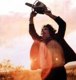Leatherface and his popular chainsaw in The Texas Chainsaw Massacre.