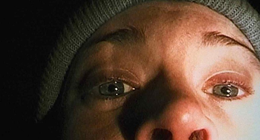 Heather Donahue as herself in the closeup shot at the end of Daniel Myrick and Eduardo Sanchez's the Blair Witch Project