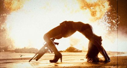 Cherry Darling (Rose McGowan) in the 2007 Robert Rodriguez grindhouse throwback Planet Terror.