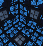 The blue room in Vincenzo Natali's Cube.