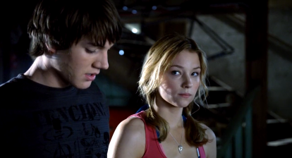 Dane (Chris Massoglia) and Julie (Haley Bennett) in Joe Dante's family friendly horror The Hole 2009.