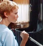 Rosemary grabs a knife in Roman Polanski's 1968 horror film Rosemary's Baby.