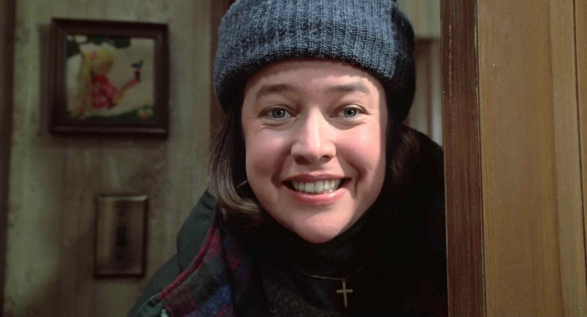 Annie Wilkes (Kathy Bates) looking creepy in her Oscar winning turn in Misery.