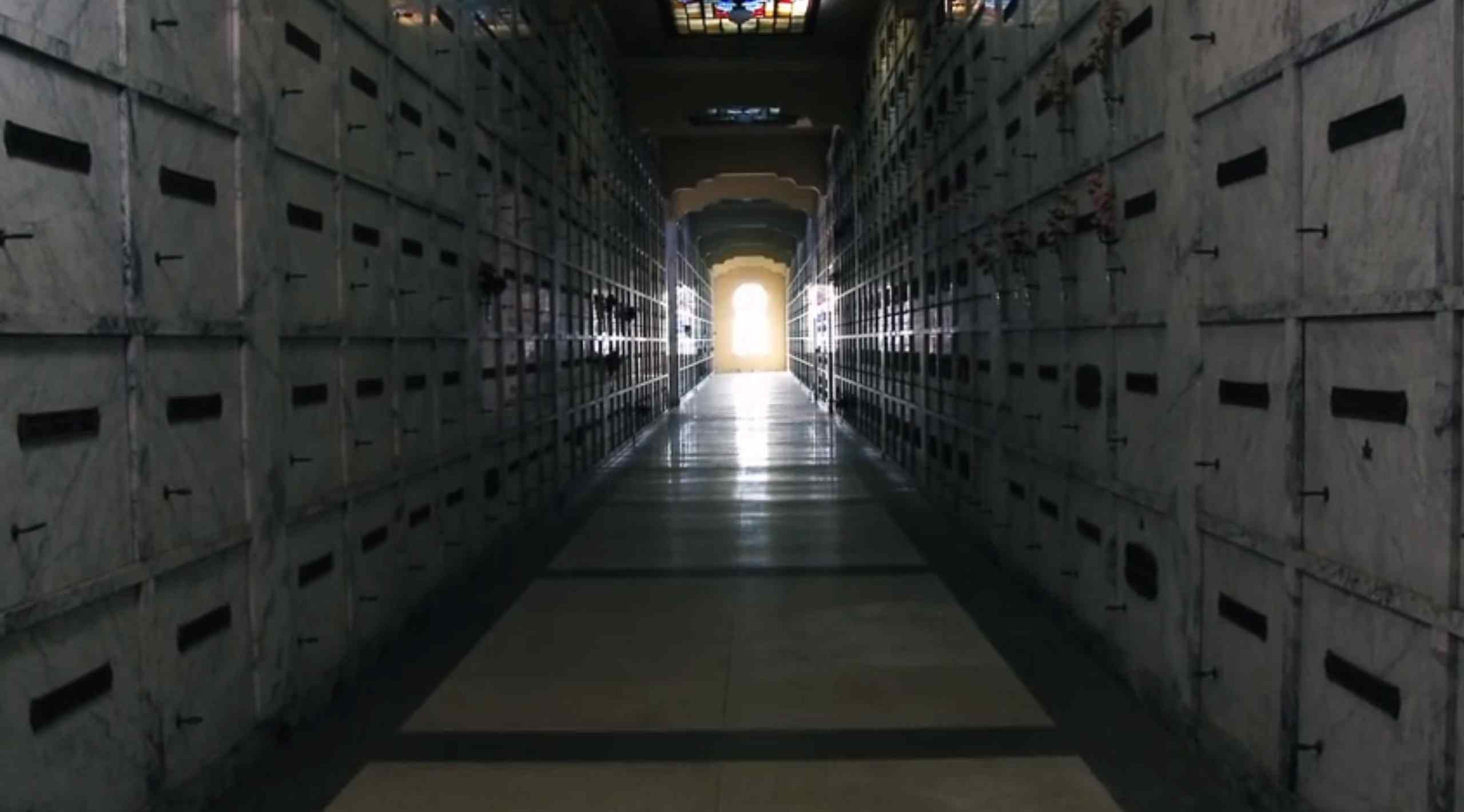 The mausoleum sequence from the upcoming David Hartman horror sequel Phantasm: Ravager.