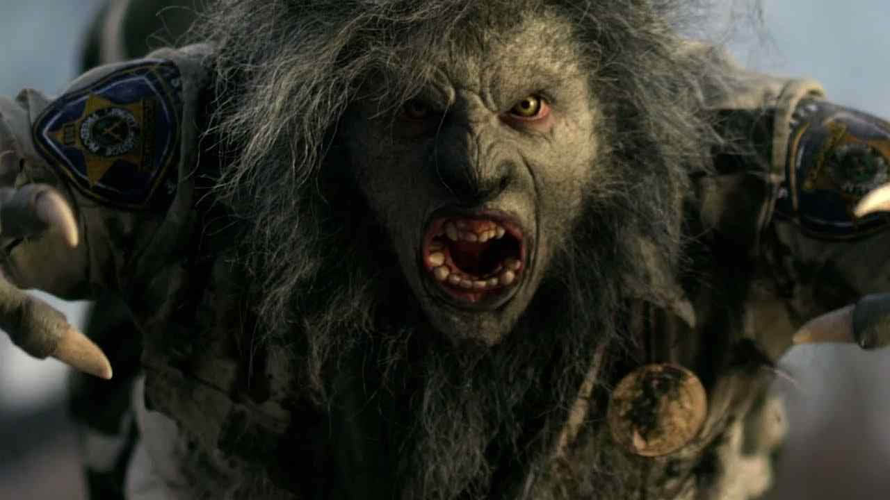 WolfCop (Leo Fafard) is not pleased in this still from the upcoming Lowell Dean film WolfCop.