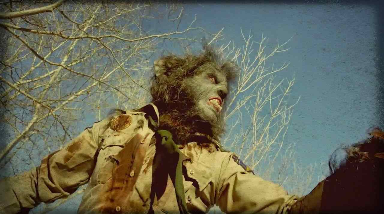 WolfCop (Leo Fafard) rummages through the woods in this still from the upcoming Lowell Dean film WolfCop.