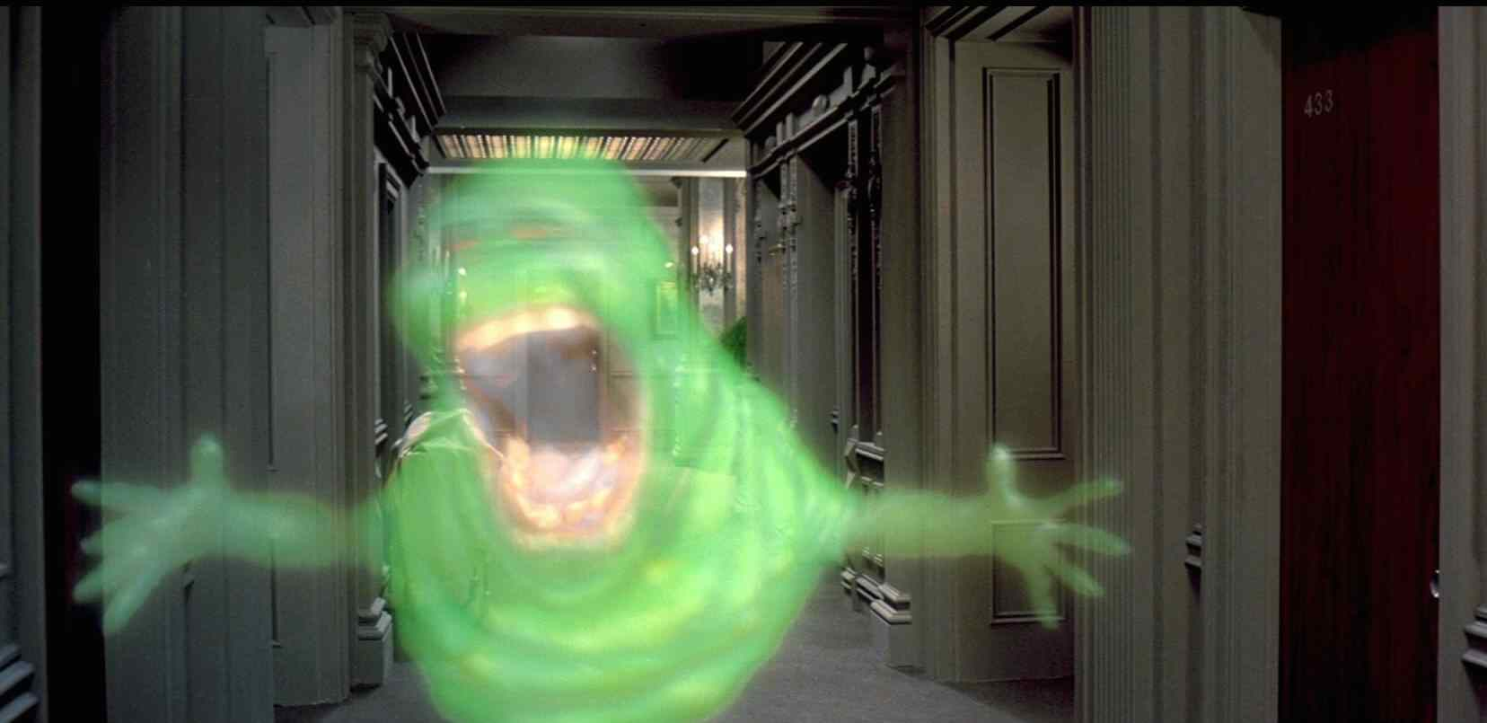 Slimer doing what he does best in Ivan Reitman's Ghostbusters.