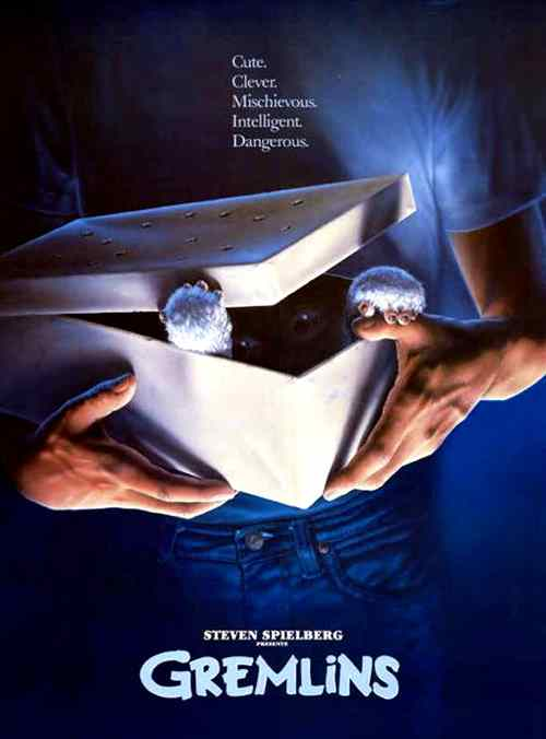 First Draft Scripts that should be adapted - Gremlins - Top 10 horror films of 1984. Poster art for the 1984 Joe Dante film Gremlins.