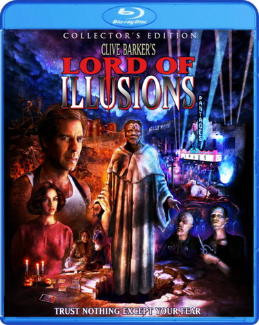 Blu-ray artwork for Clive Barker's Lord of Illusions.