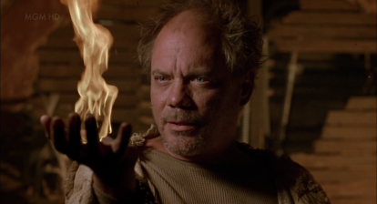 One of the cult members in Clive Barker's Lord of Illusions makes fire appear out of thin air!