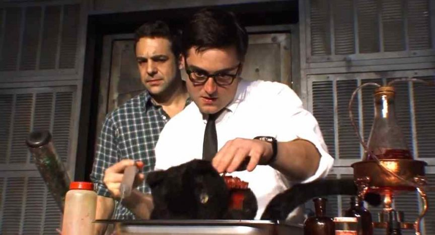 A still of Herbert West in Stuart Gordon's Re-Animator: The Musical.