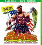 Blu-ray packaging for Lloyd Kaufman and Michael Herz's The Toxic Avenger. Troma.