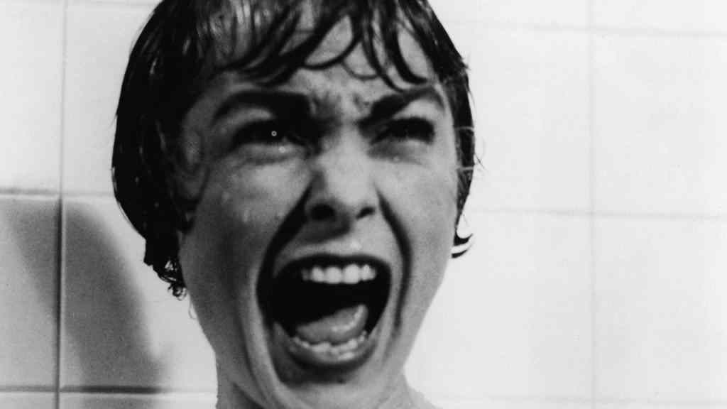 The iconic shower scene in Psycho.
